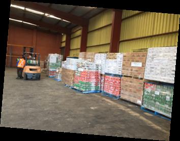 SPC Food unloaded awaiting pickup